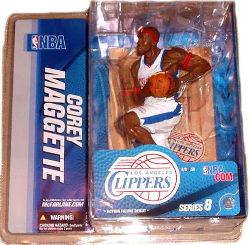 McFarlane Toys NBA Los Angeles Clippers Sports Picks Series 8 Corey Maggette Action Figure [White Jersey variant, Damaged Package]