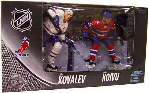 McFarlane Toys NHL Montreal Canadiens Sports Picks Exclusive Saku Koivu & Alex Kovalev Exclusive Action Figure 2-Pack [Damaged Package]