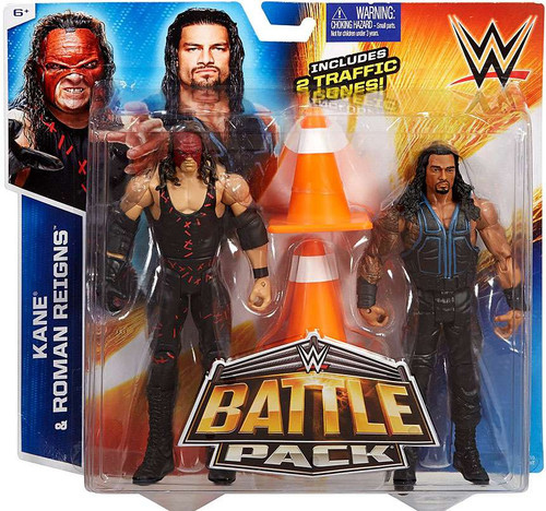 WWE Wrestling Battle Pack Series 35 Kane & Roman Reigns Action Figure 2-Pack [Damaged Package]