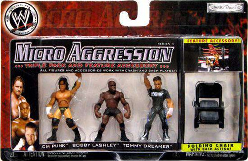 WWE Wrestling Micro Aggression Series 5 Mini Figure 3-Pack [Loose]