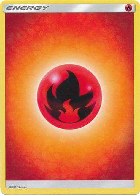 Pokemon Sun & Moon Lot of 10 Fire Energy Single Cards