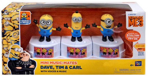 Despicable Me 3 Mini Music-Mates Dave, Tim & Carl Exclusive 3-Inch Figure 3-Pack [with Voices & Music]