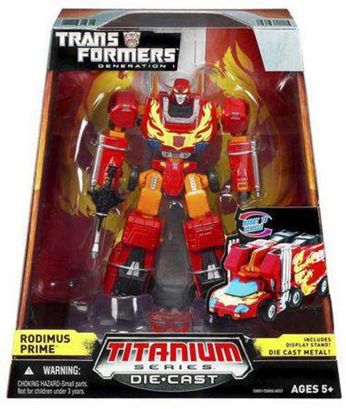 "Transformers Generation 1 TItanium Series Rodimus Prime 6-Inch 6"" Diecast Figure [Damaged Package]"