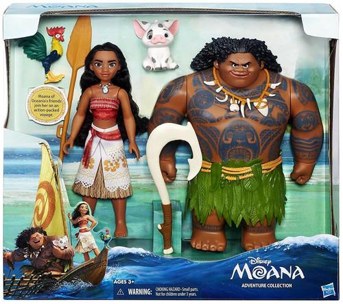 Disney Moana Adventure Collection Doll Set [Moana, Maui, Heihei & Pua]
