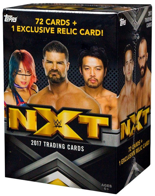 WWE Wrestling Topps 2017 NXT Trading Card BLASTER Box [72 Cards, 1 Relic Card!]