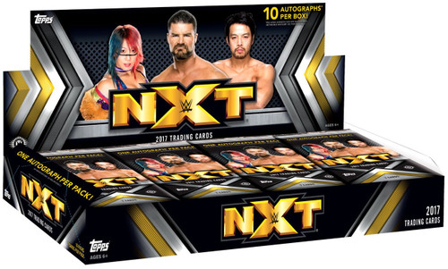 WWE Wrestling Topps 2017 NXT Trading Card HOBBY Box [10 Packs]