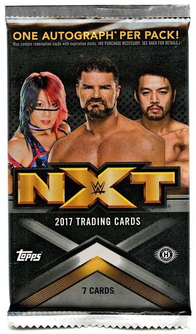 WWE Wrestling Topps 2017 NXT Trading Card HOBBY Pack