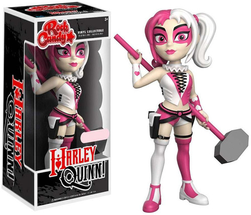 Funko DC Rock Candy Harley Quinn Exclusive Vinyl Figure [Pink & White]