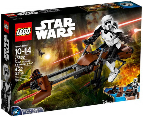 LEGO Star Wars Buildable Figure Scout Trooper & Speeder Bike Set #75532