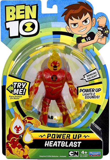 Ben 10 Power Up Heatblast Deluxe Action Figure [Lights & Sounds]