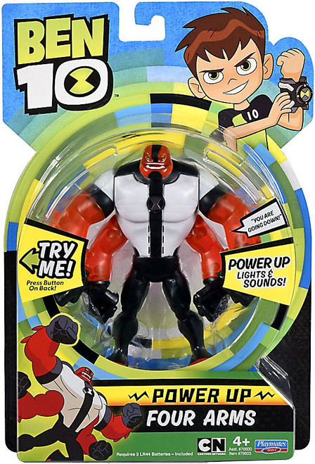 Ben 10 Power Up Fourarms Deluxe Action Figure [Lights & Sounds]