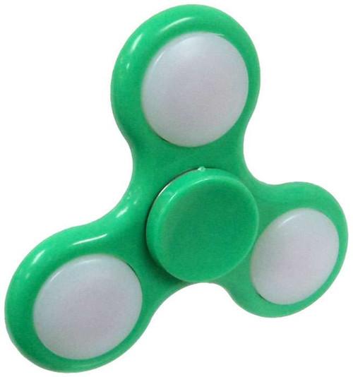 Hand Spinner Flashing Green Spinner [Light-Up]
