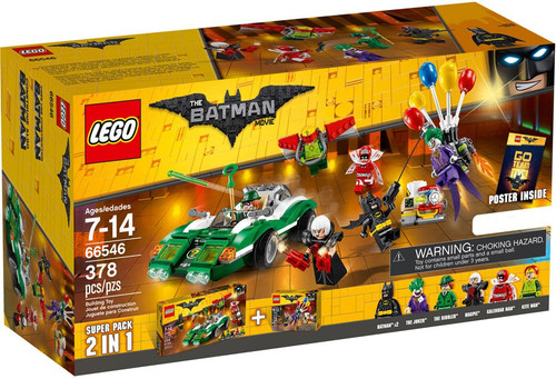 LEGO DC The Batman Movie The Joker Balloon Escape & The Riddler Riddle Racer Exclusive Co-Pack Set #66546 (70900 & 70903)