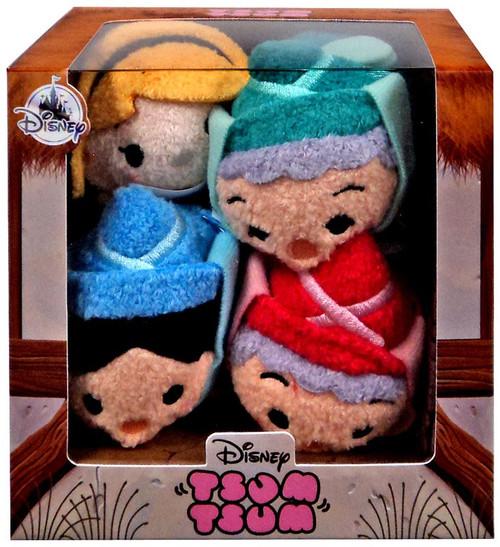 Disney Tsum Tsum Sleeping Beauty Exclusive Mini Plush 4-Pack Set