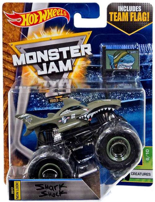 Hot Wheels Monster Jam 25 Shark Shock Die-Cast Car #6/10 [Creatures]