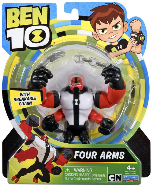 Ben 10 Basic Four Arms Action Figure [Breakable Chain]