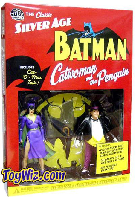 Batman Silver Age Penguin & Catwoman Deluxe Action Figure 2-Pack [Loose]