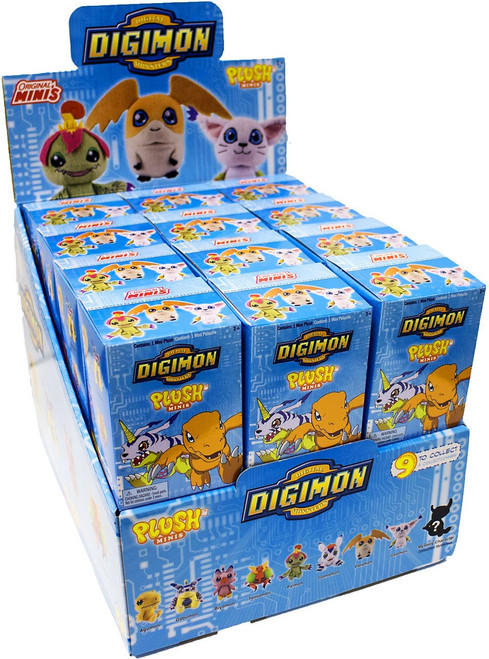 Digimon Mini Plush Mystery Box [24 Packs]