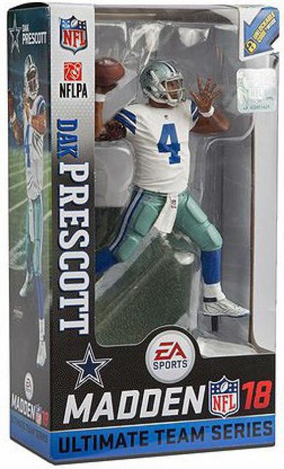 McFarlane Toys NFL Dallas Cowboys EA Sports Madden 18 Ultimate Team Series 2 Dak Prescott Action Figure [White Jersey Regular Version]