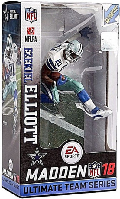 McFarlane Toys NFL Dallas Cowboys EA Sports Madden 18 Ultimate Team Series 2 Ezekiel Elliott Action Figure [White Jersey, Regular Version]