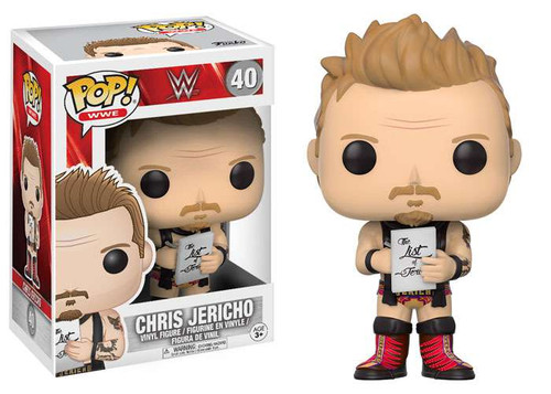 Funko WWE Wrestling POP! Sports Chris Jericho Vinyl Figure #40 [Red Laces]