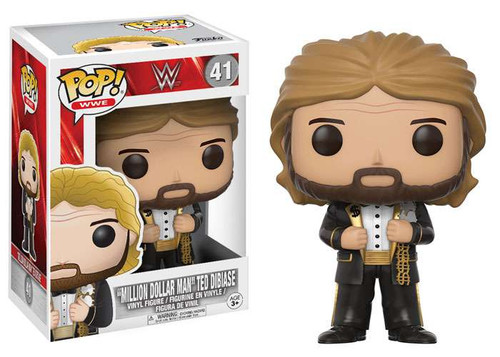 Funko WWE Wrestling POP! Sports Million Dollar Man Ted Dibiase Vinyl Figure #41 [Black Suit, Regular Version]