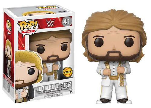 Funko WWE Wrestling POP! Sports Million Dollar Man Ted Dibiase Vinyl Figure #41 [White Suit Chase Version]