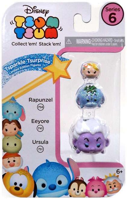 Disney Tsum Tsum Series 6 Tsparkle Tsurprise Rapunzel, Eeyore & Ursula 1-Inch Minifigure 3-Pack T58, T41 & T51