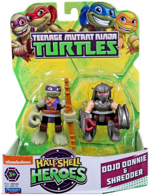 Teenage Mutant Ninja Turtles TMNT Half Shell Heroes Dojo Donnie & Shredder Action Figure