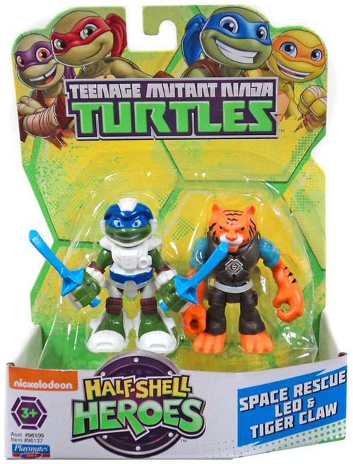 Teenage Mutant Ninja Turtles TMNT Half Shell Heroes Space Rescue Leo & Tiger Claw Action Figure