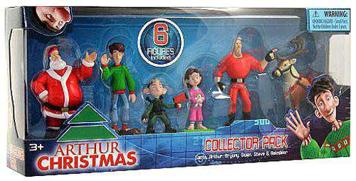 Arthur Christmas Collector Pack Mini Figure 6-Pack [Damaged Package]