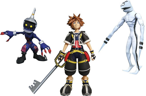 Disney Kingdom Hearts Select Sora, Dusk & Soldier Action Figures