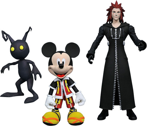 Disney Kingdom Hearts Select Mickey Mouse, Axel & Shadow Action Figures