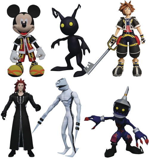 Disney Kingdom Hearts Select Sora, Dusk, Soldier, Mickey Mouse, Axel & Shadow Action Figures