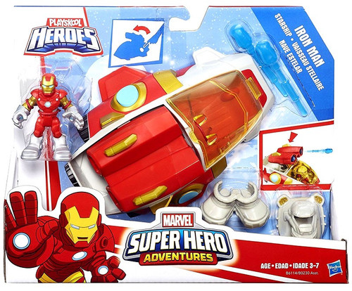 Marvel Playskool Heroes Super Hero Adventures Iron Man Starship Action Figure & Vehicle