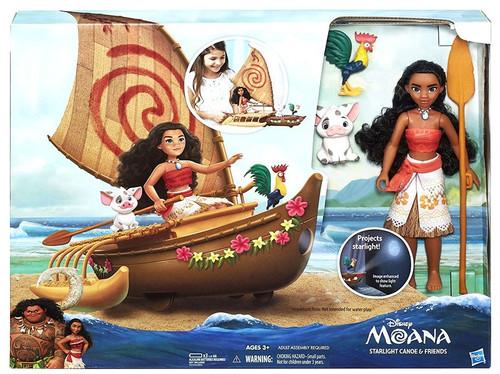 Disney Moana Starlight Canoe & Friends Playset