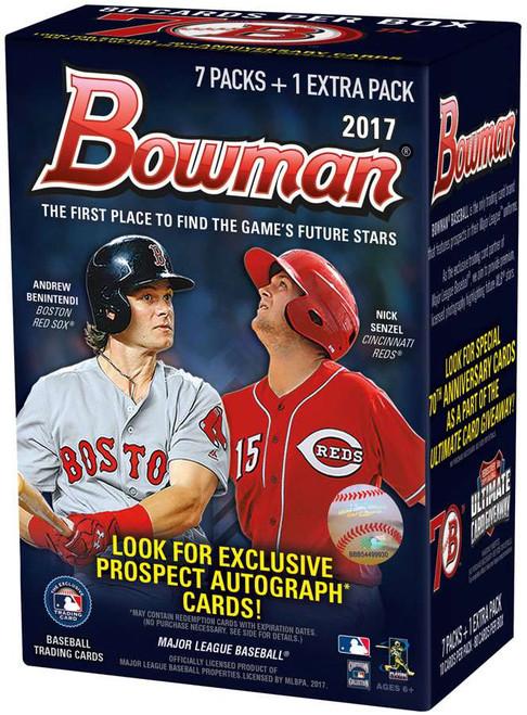 MLB Topps 2017 Bowman Baseball Cards Trading Card BLASTER Box [7 Packs + 1 Extra Pack]
