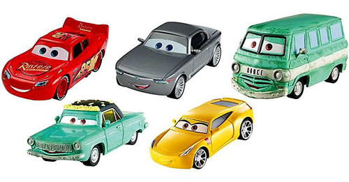 Disney / Pixar Cars Cars 3 McQueen, Cruz, Fillmore, Rusty & Sterling Exclusive Diecast Car 5-Pack