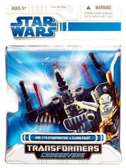 Star Wars Clone Wars Transformers Crossovers ARC-170 Starfighter to Clone Pilot Action Figure