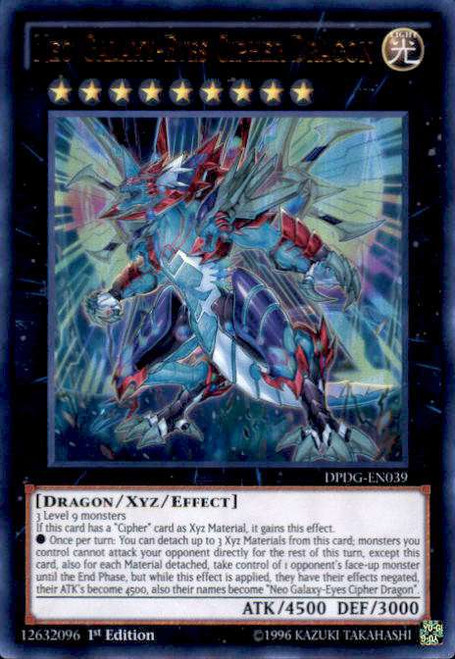 YuGiOh Duelist Pack: Dimensional Guardians Ultra Rare Neo Galaxy-Eyes Cipher Dragon DPDG-EN039