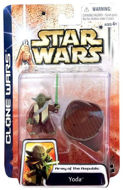 Star Wars Attack of the Clones Unknown Year Yoda Action Figure [Damaged Package]
