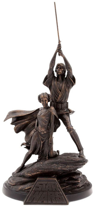 Star Wars 40th Anniversary Luke Skywalker & Princess Leia Exclusive Figurine Statue [Limited Edition out of 1250]