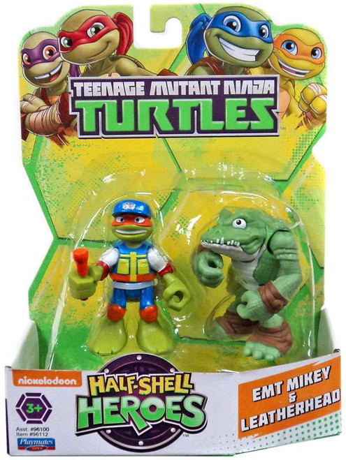 Teenage Mutant Ninja Turtles TMNT Half Shell Heroes EMT Mikey & Leatherhead Action Figure