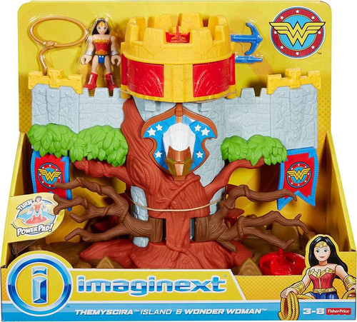 Fisher Price DC Super Friends Imaginext Themyscira Island & Wonder Woman 3-Inch Playset