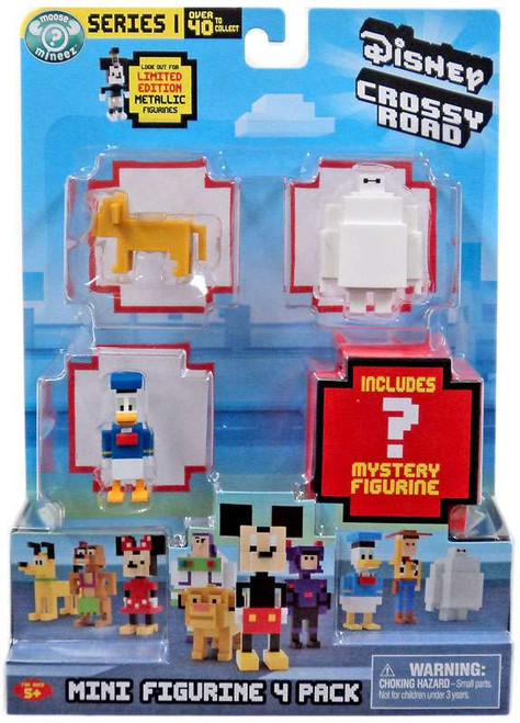 Crossy Road Disney Series 1 Simba, Baymax, Donald & Mystery Figure Mini Figure 4-Pack