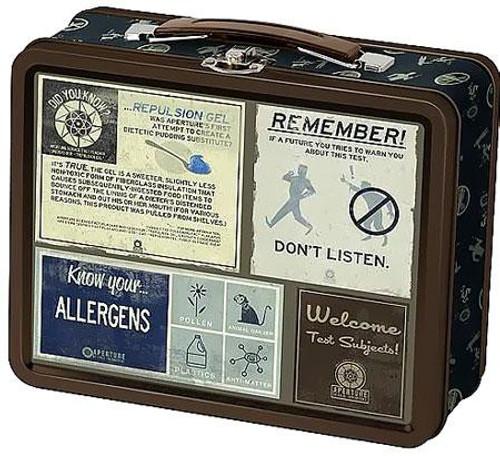 Portal 2 Aperture Laboratories Lunch Box [Warnings]