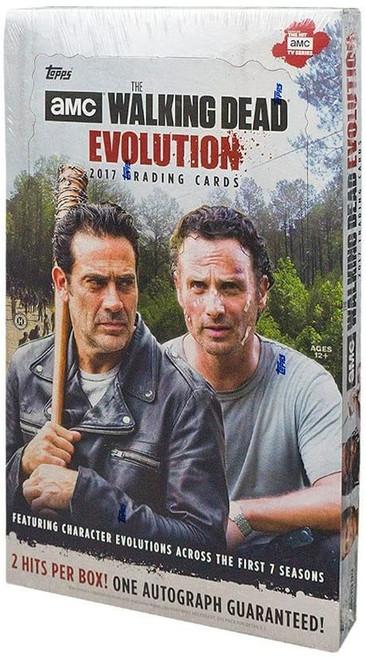 The Walking Dead Topps 2017 Season 7 Evolution Trading Card HOBBY Box [24 Packs, 2 Hits Per Box!]
