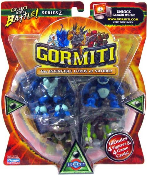 Gormiti Series 2 Carrapax, Hypnofrog the Mocker, Spores the Terrible & Cannon Trunk Mini Figure 4-Pack [RANDOM Colors]