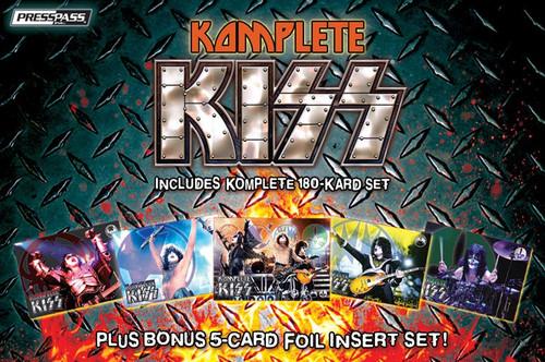 KISS Komplete Set Trading Cards [Bonus 5-Card Foil Insert Set]
