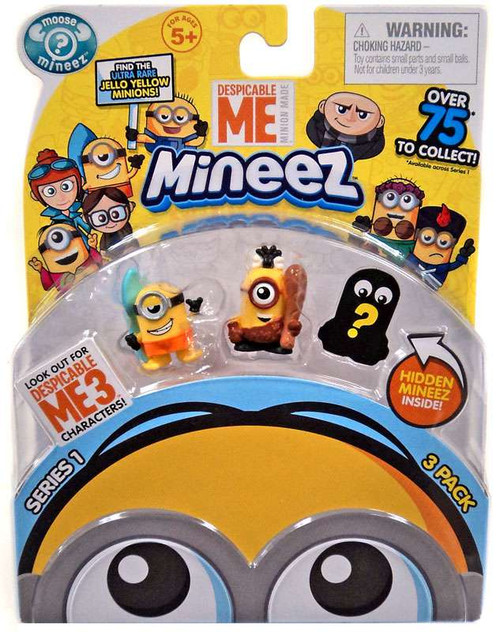 Despicable Me Minions Mineez Series 1 Surf's Up Minion & Cro-Minion Mini Figure 3-Pack